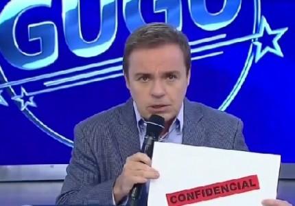 Gugu Liberato no programa da última quinta-feira (19), em que entrevistou o ex-goleiro Bruno