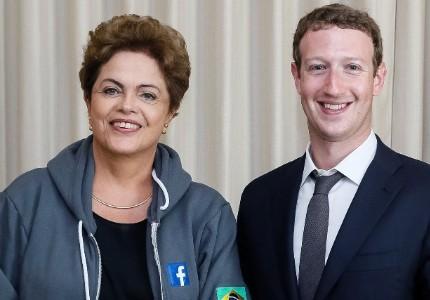 Dilma se encontrou com o fundador do Facebook, Mark Zuckerberg, no Panamá