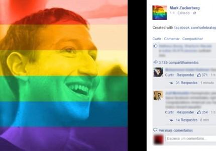 Mark Zuckerberg troca foto de perfil no Facebook em apoio à aprovação do casamento gay nos EUA (Foto: Reprodução/Facebook)